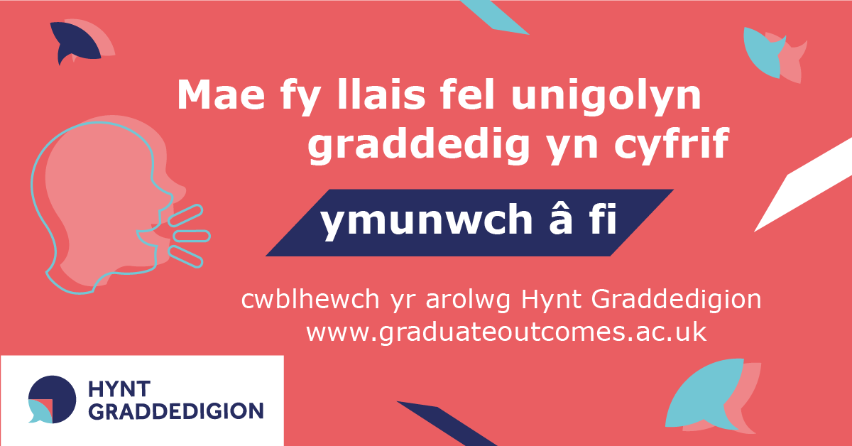 My graduate voice counts image in Welsh for LinkedIn