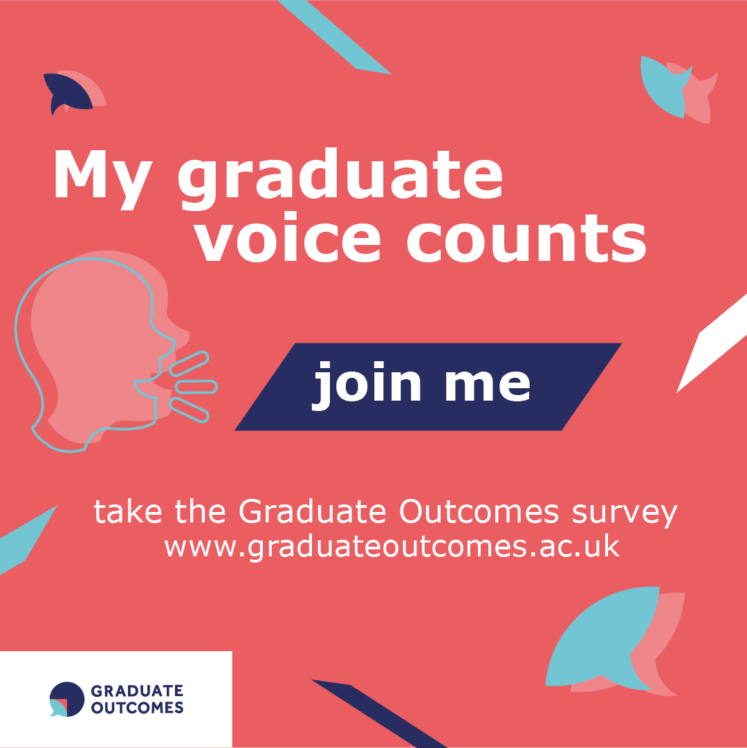 My graduate voice counts image in English for Instagram
