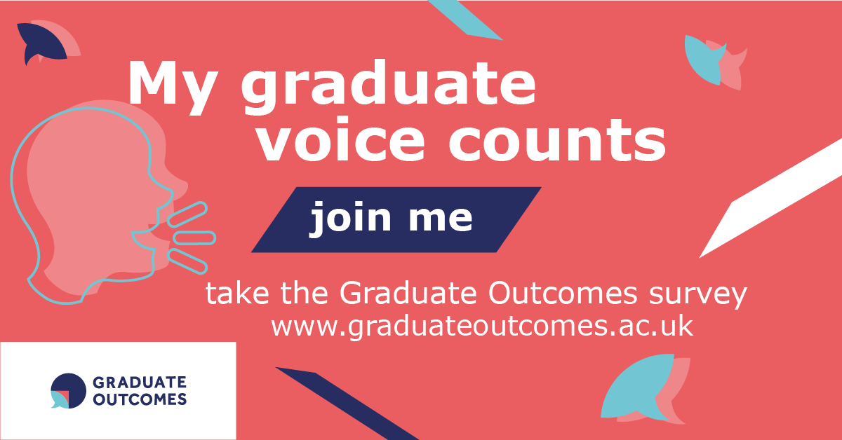 My graduate voice counts image in English for Facebook